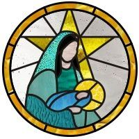 stained glass nativity scene pattern - Google Search