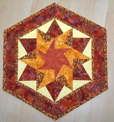 Kaleidoscope table topper.