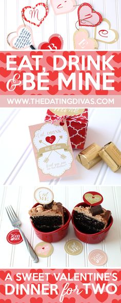 This seems like such a cute and EASY ideas for Valentine's Day. Eat, Drink,