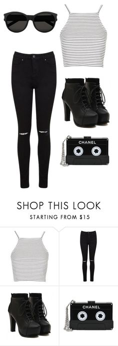 """Untitled #43"" by fgshannah ❤ liked on Polyvore featuring Topshop, Miss Selfridge, Chanel and Yves Saint Laurent"