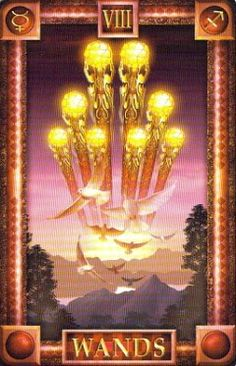 Our #dailylovetarot reveals the #8ofwands, and this is an exciting omen for some of you! This New Moon energy will bring new beginnings, and things will move very quickly for you in your relationship. Do enjoy!