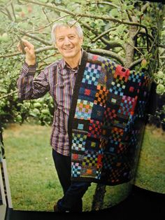 Kaffe Knits Again - Gridlock Throw... this man has allways inspired me.