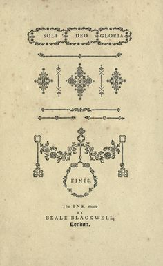 William Caslon – A specimen of printing types (1785) #typeasimage