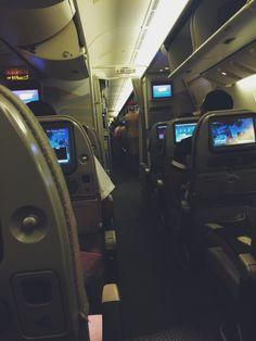 Emirates flying.