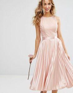 Pink Cocktail Dress, Pink Midi Dress, Dress Skirt, Lace Dress, Satin Skirt, Chi Chi, Bridesmaid Dresses, Prom Dresses, Formal Dresses