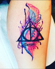 My new tattoo Harry Potter, deathly hallows . - My new tattoo Harry Potter, deathly hallows - Harry Potter Tattoos, Harry Potter Drawings, Harry Potter Art, Tattoos A Color, Body Art Tattoos, Sleeve Tattoos, Tatoos, Flower Tattoos, Cat Tattoos