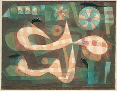 The Noose púas con los Ratones  Paul Klee (alemán (nacido en Suiza), Münchenbuchsee 1879-1940 Muralto-Locarno)  Fecha: 1923 Medio: Acuarela y gouache sobre papel, que limita con gouache Dimensiones: H. 9, W. 12-1/8 pulgadas (22,9 x 30,8 cm.) Clasificación: Dibujos Línea de crédito: La Colección Berggruen Klee, 1987