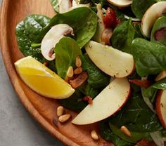 Fall is here, which means many fruits are coming in season! This Spinach & Apple Salad with Warm Meyer Lemon-Bacon Vinaigrette by Chef Kathy Casey is quick and delicious. Fresh, crisp apples pair well with the flavorful dressing for a salad that will make you feel like you are in the Northwest no matter where you are enjoying this dish.