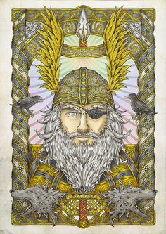Happy Wednesday!!!! (Glædelig Onsdag!!!!) Odin. (I can sort of see the resemblance on this one!)