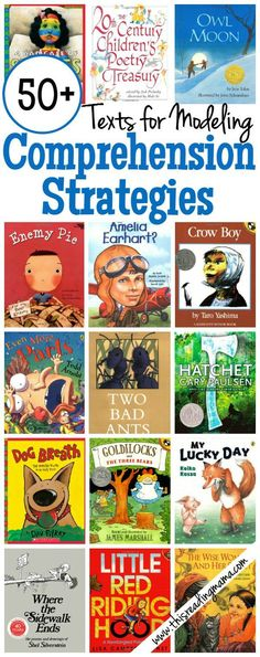 This Reading Mama|50+ Texts for Modeling Comprehension Strategies|This is set of useful lists of books that can be used to teach different reading comprehension strategies, grouped by the strategy they can be used to teach. Since many of the books listed are picture books and illustrated stories, these lists may be helpful for teaching reading comprehension skills to ELLs.