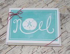Coastal Christmas Noel Note Cards from Lemondaisy Design