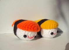 """Free amigurumi sushi pattern """"Mi mundo: Amigurumi MX: Patrón amigurumi gratis: Shushi!"""""""
