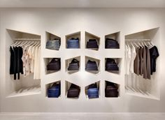 Sass & Bide denim cubby wall. 2011 Australian Interior Design Awards—Retail Design (Shortlist).