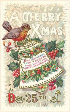 1911 Christmas postcard