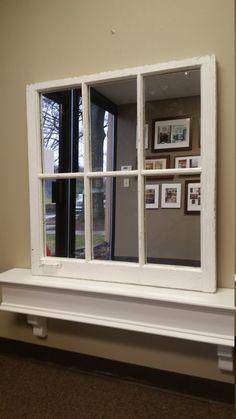 White Window Mirror White Mirror Window by TheDecorativeCompany www.thedecorativecompany.com #windowmirror
