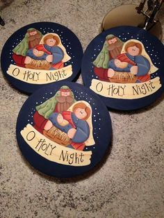 Christmas Rock, Christmas Card Crafts, Country Christmas, Christmas Projects, Holiday Crafts, Christmas Decorations, Christmas Clipart, Homemade Christmas, Nativity Ornaments