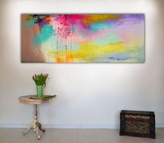 Buy REFLECTIONS 9- 150x60 cm, Large Modern Ready to Hang Abstract, Acrylic painting by Soos Roxana Gabriela on Artfinder. Discover thousands of other original paintings, prints, sculptures and photography from independent artists.