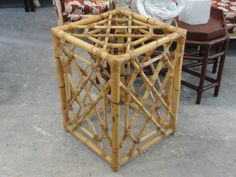 Vintage Fretwork Rattan Table Base
