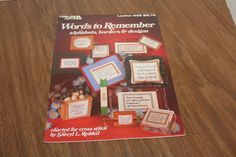 Words to Remember Leisure Arts Leaflet 235 Cross Stitch