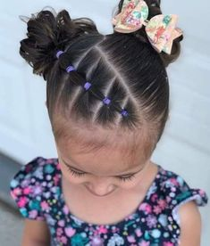 Toddler Hair Dos, Easy Toddler Hairstyles, Easy Little Girl Hairstyles, Kids Curly Hairstyles, Flower Girl Hairstyles, Office Hairstyles, Anime Hairstyles, Stylish Hairstyles, Hairstyles Videos