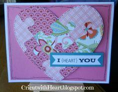 Cricut Artiste puzzle heart card CricutwithHeart.blogspot.com