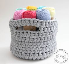 I made this adorable Little Crochet Basket from Wool and the Gang's Jersey Be Good Yarn! It's a nice, little sturdy basket that is perfect for yarn!