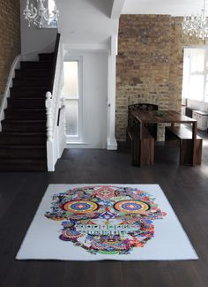 Gambling Skull Tufted Rug