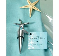 Starfish Wine Stopper Favor   love the ocean theme for my home. love wine too!!!