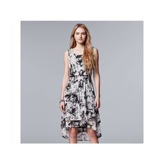 Women's Simply Vera Vera Wang Mesh High Low Dress, Size: Medium, White