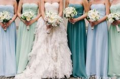 Different colored dresses, same style gown