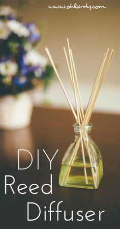 DIY Reed Diffuser - I wonder how well this would work to keep mosquitoes away if I got the right oils...