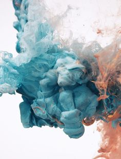 i would love the blue part as the 'ocean' bit. I wonder how it would look if it was sandblasted  Metallic Ink Shot in Water - Alberto Seveso