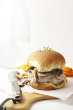 Inside Out Mushroom Burger [APRIL FEATURED RECIPE]