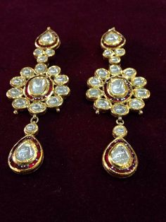 Polki love! These absolutely beaut earrings are exclusively  available at CBSN Talwar jewellers, New Delhi-India. For queries, Contact: info@talwarjewellers.in | call: +91 11-45012629 | Whatsapp/Wechat/Line: +91 9811009833