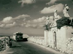 A scene from a film shot in A vintage bus and a female with her goats near the St. In the past those that lost their lives due to the plague were buried in this cemetery. Old Pictures, Old Photos, Malta Bus, Air Malta, Malta History, Capital Of Malta, Malta Valletta, Malta Island, Little Island