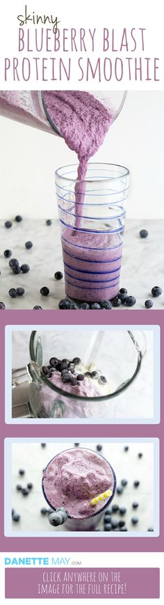 This blueberry smoothie recipe is SOOOO Yummy! You won't even know it's a skinny recipe. If you like it I encourage you to try my recipe book with over 150 quick, easy Fat Burning recipes here http://www.eatdrinkshrinkplan.com/bikini-body-recipes-offer/