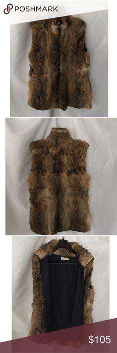 💞LaRok Authentic Real Rabbit Fur Best Sz M 💞 This super soft, plush rabbit fur vest (with pockets) looks great over any look. Stay warm rocking this fur fashion  trend! Brand new condition without tags! LaRok Jackets & Coats Vests