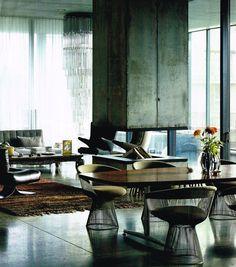 Warren Platner chairs, green velvet