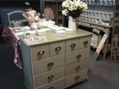 Merchant Chest in 'Olive' & 'Country Grey' Chalk Paint®, a decorative paint by Annie Sloan.