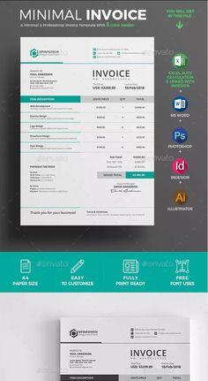 Invoice Layout, Invoice Design Template, Invoice Format, Receipt Template, Letterhead Design, Letterhead Template, Brochure Design, Templates, Graph Design