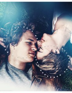 """I want more numbers than I'm likely to get, I want more numbers for Augustus Waters than he got. But, Gus, my love, I cannot tell you how thankful I am for our little infinity. I wouldn't trade it for the world."" This was when the tears hit. Ansel Elgort, Shailene Woodley, The Fault In Our Stars, Movies Showing, Movies And Tv Shows, I Fall In Love, My Love, John Green Books, Augustus Waters"