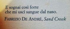 Fabrizio De André, Sad Creek.