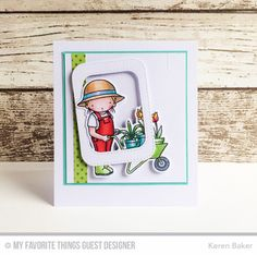 Handmade card from Keren Baker #mftstamps