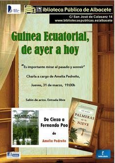 #actividadesBiblioteca Guinea Ecuatrorial, de ayer a hoy, con Amelia Pedreño.