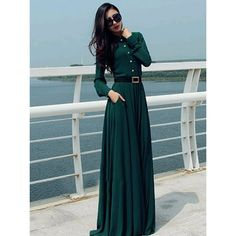 Vestido ocasional, vestido Longo Vintage Elegant Lady botón del partido de coctel Maxi Shirt Kaftan Abaya verde túnicas en Vestidos de Moda y Complementos Mujer en AliExpress.com   Alibaba Group