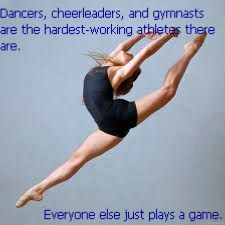 I've broken bones for dance injured my knee for cheer. I've been battered and bruised for both, I wouldn't trade it for anything