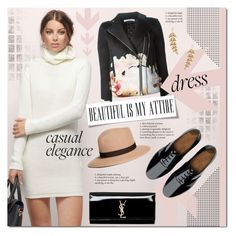 """""""Casual Elegance"""" by justlovedesign ❤ liked on Polyvore featuring Tobi, Givenchy, FitFlop, Brooks Brothers, Yves Saint Laurent, Sole Society and longsleevedress"""