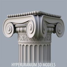 Column IONIC c corner Model available on Turbo Squid, the world's leading provider of digital models for visualization, films, television, and games. Architecture Antique, Ancient Greek Architecture, Classical Architecture, Architecture Details, Roman Columns, Marble Columns, Stone Columns, Stone Decoration, Gypsum Design