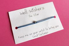 ♥ The message on the card is inspired by the charm and what it symbolises. For example : The Star Bracelet - Keep me on your wrist you bring you Good Fortunes. Good Fortune, Wish Come True, Wish Bracelets, Good Luck, Travel Gifts, Friendship Bracelets, My Etsy Shop, Charmed, Messages