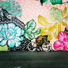 flowers flowers More from my site Flower wall mural outside in my garden. Street art Buddha SET – Buddha Watercolor Art, Om Symbol and Lotus Flower Watercolor Poster, Yoga Art Poster Exteriors Murals Street Art, Graffiti Art, Graffiti Flowers, Flower Mural, Flower Art, Detroit Art, Grafiti, Wall Drawing, Mural Wall Art